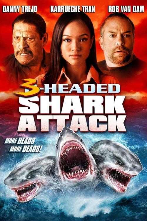 ดูหนังออนไลน์ฟรี 3-Headed Shark Attack (2015) โคตรฉลาม 3 หัวเพชฌฆาต