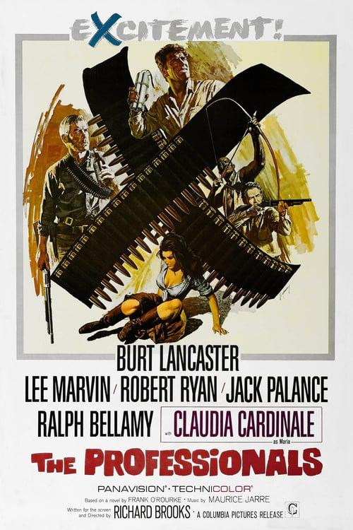 ดูหนังออนไลน์ฟรี The Professionals (1966) ประกาศิต 4 จอมสังหาร